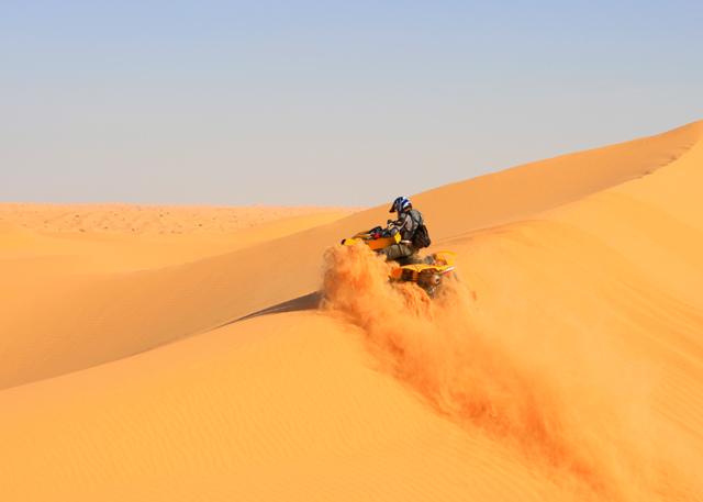 Atravesando las dunas