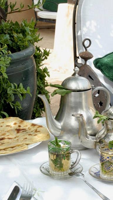 desayuno marroqui en hotel Mamouche