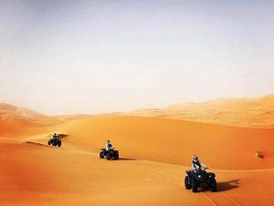 quad en las dunas de Merzouga