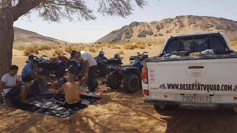 oasis in merzouga with quads