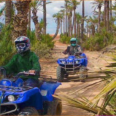 explora un oasis a través de un quad